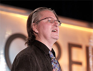 Photo of Bruce Sterling by James Duncan Davidson/O'Reilly Media