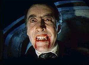 image of Christopher Lee as Dracula