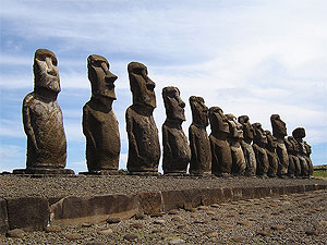 photo of Easter Island available via Creative Commons at http://www.flickr.com/photos/vtveen/369744210/