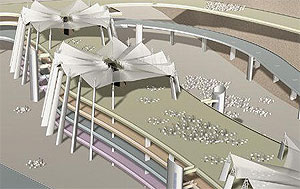 artist rendering of the Jamarat Bridge