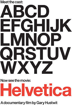 poster for Helvetica movie