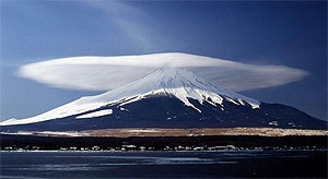 photo of a lenticular cloud