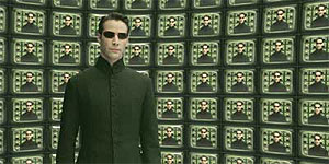 Neo confronts the architect in The Matrix Reloaded