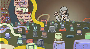 still image from the opening credits of Moog