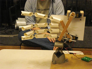 photo of the rock paper scissors robotic hand