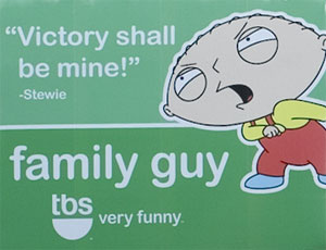 photo of a Family Guy billboard in Times Square