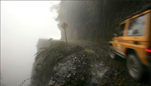 image from Bolivia's road of death
