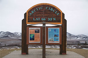 photo of arctic circle