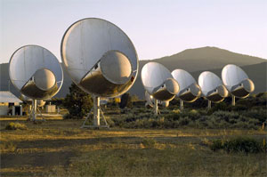 photograph of the Allen Large Array telescopes