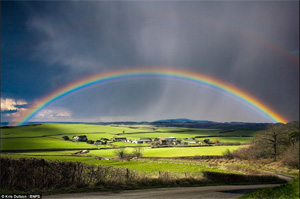 Photo by Kris Dutson of a rainbow over Dorset England