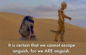 Star Wars with Jean-Paul Sartre subtitle