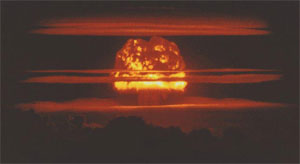 still image of A-bomb test