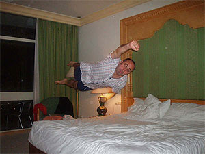 bed jumping still image