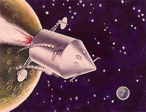 early artist rendering of the lunar module