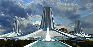 image from one of Jacque Fresco's cities