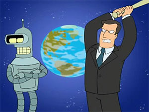 image of Al Gore and Bender