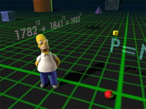 Homer Simpson in 3-D world