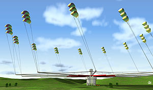 artist illustration of kite power generator