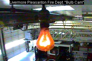 webcam image of the centennial lightbulb