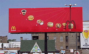 McDonalds billboard in Chicago