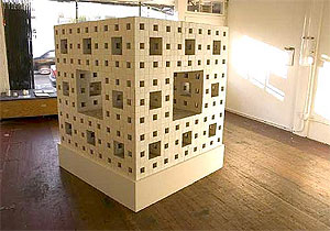 Photo of the Menger sponge model at Machine Project