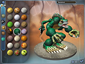 screen shot from Spore