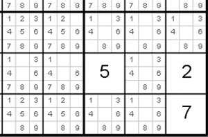 Sudoku helper screen shot